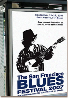 SF Blues bus poster